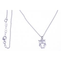 """Bracelet argent rhodié 4,3g - """"hibou"""" - 42+3cm"""