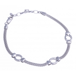 Bracelet argent rhodié 3,7g - 17+3cm