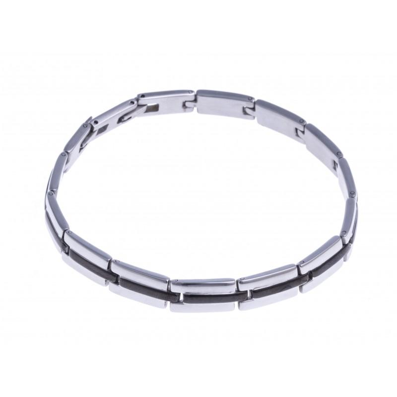 Bracelet acier homme 23 cm