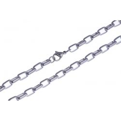 Collier acier maille rectangle - 55 cm