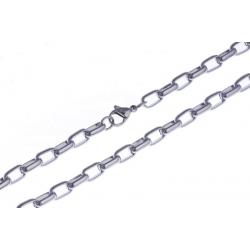 Collier acier maille rectangle - 60 cm
