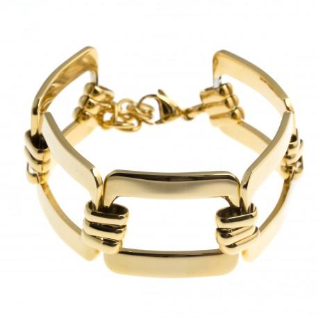 Bracelet acier dorŽ - 19+4cm