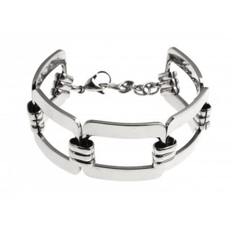 Bracelet acier - 19+4cm