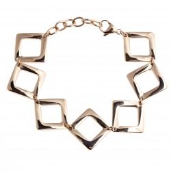 """Bracelet acier rosé - """"losanges"""" - 18,5+4cm"""