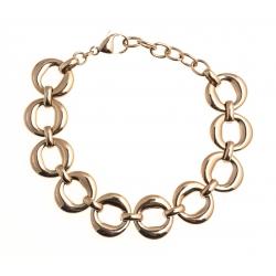"Bracelet acier rosŽ - ""ronds"" - 17+4cm"
