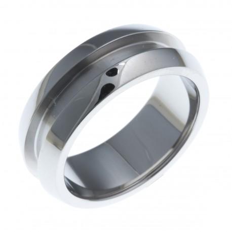 Bague support SCREW - lady - 7,5 mm - acier blanc T52 à 60