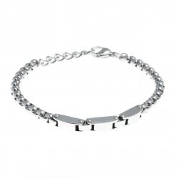 Bracelet acier homme -  3 composants de 1,5cm -  20+3cm