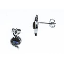 Boucles d'oreille argent rhodié 1,5g - nacre abalone