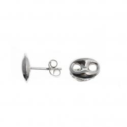 Boucles d'oreille argent rhodié 1,5g - grains de café