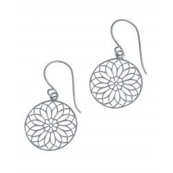 Boucles d'oreille argent rhodié 2g - spirale - diamètre 1,5cm