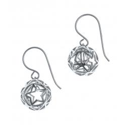 Boucles d'oreille argent rhodié 2,5g - boule - diamètre 1,2cm