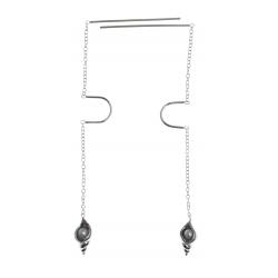 Boucles d'oreille 2,5g - perles véritables - pendante - fil 3cm