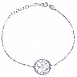 """Bracelet en argent rhodié 1,8g """"arbre de vie"""" - 17+3 cm"""