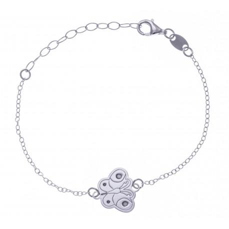 Bracelet argent rhodié 1,5g - enfant - nounours - 14+3cm