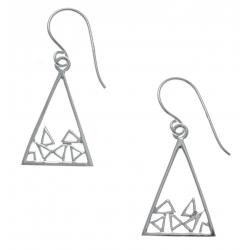 Boucles d'oreille argent rhodié 1,9g - triangles