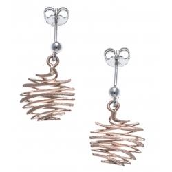 Boucles d'oreille argent rhodié 2g - rosé - satiné
