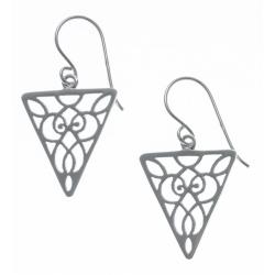 Boucles d'oreille argent rhodié 2,3g - triangle inversé
