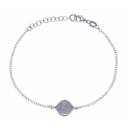 Bracelet argent rhodié 2,4g - 17+3cm