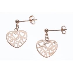 Boucles d'oreille - cœurs ajourés