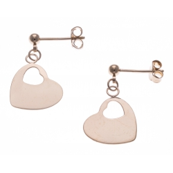 Boucles d'oreille plaqué or - cœurs