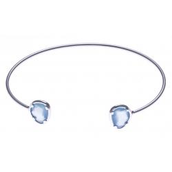 Jong en argent rhodié 4g -  calcedoine bleue - 60x50mm