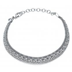 Bracelet argent rhodié 7,5g - 18,5+4cm