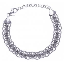 Bracelet argent rhodié 9,2g - 18+4cm