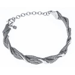 Bracelet argent rhodié 9,9g - 18+4cm