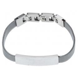 Bracelet acier homme maille milanaise - 2 extensions - 21  cm