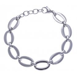 Bracelet acier - ovales - 18+3cm