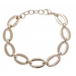 Bracelet acier doré - ovales - 18+3cm
