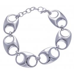 Bracelet acier - grain de café - 17+3cm