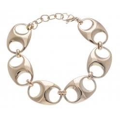 Bracelet acier doré - grain de café - 17+3cm