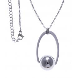 Collier acier boule tournante - 40+10cm
