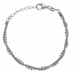 Bracelet argent rhodié 4,8g - 17+3cm