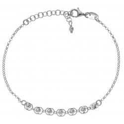 Bracelet argent rhodié 2,2g - boules magiques - 17+3cm