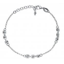 Bracelet argent rhodié 2,5g - boules magiques - 17+3cm