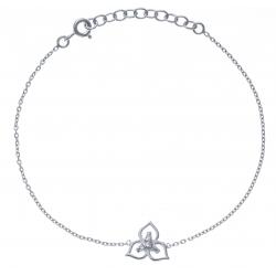 Bracelet argent rhodié - 1,7g - zircons - triskel - 17+3cm