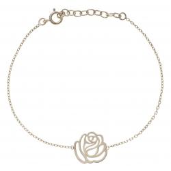 Bracelet plaqué or rose filigranée - 17+3cm