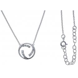 Collier argent rhodié 3,3g - zircons - 40+5cm