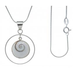 Collier argent 6g - œil de Lucie - 45cm