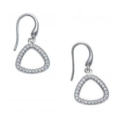 Boucles d'oreille argent rhodié 2g - zircons