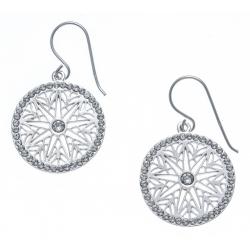 Boucles d'oreille argent rhodié 4g - zircons - diamètre 2cm