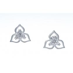 Boucles d'oreille argent rhodié 1,7g - zircons