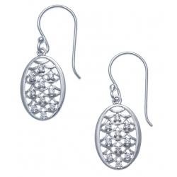 Boucles d'oreille argent rhodié 2,6g - zircons