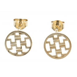 Boucles d'oreille plaqué or - motifs géométriques - diamètre 10mm