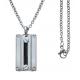 Collier acier - câble acier noir - 45+5cm