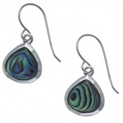 Boucles d'oreille argent rhodié 2,2g - nacre abalone