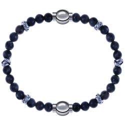 Apollon - Collection MiX - bracelet combinable labradorite 6mm - 10cm + labradorite 6mm - 10cm