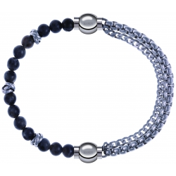Apollon - Collection MiX - bracelet combinable labradorite 6mm - 10cm + chaines - 10,25cm